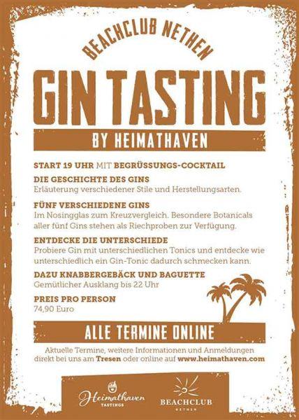 Gin Tasting BEACHCLUB / 31. Oktober 2019