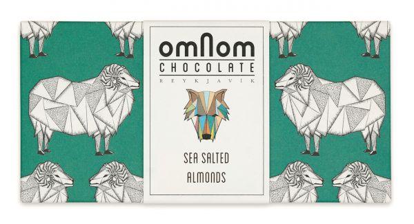 Omnom Chocolate mit Mandelstückchen in Meersalz Vollmilchscokolade