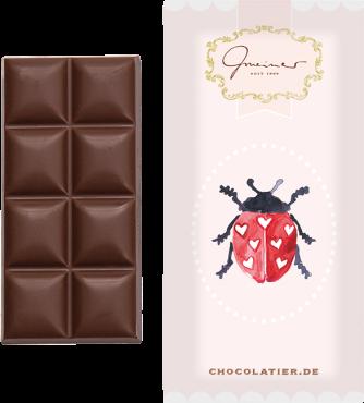 """Gmeiner - Schokoladentafel """"Glückskäfer""""- 45g"""