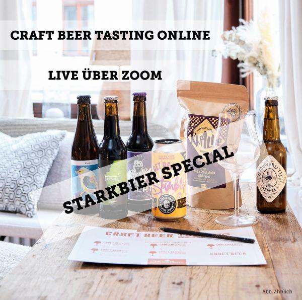 Craft Beer Tasting online - Starkbier Special - 24. April 2021