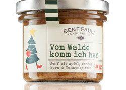 Vom Walde- Senf mit Apfel, Mandelkern & Tannenspitzen - 110ml