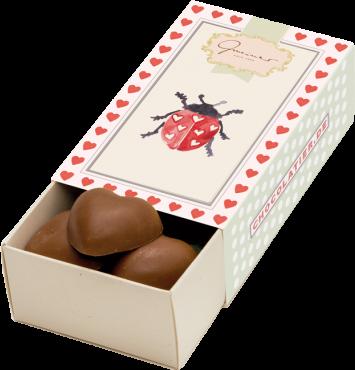 Gmeiner - Schokoladenbox Marienkäfer - 50g
