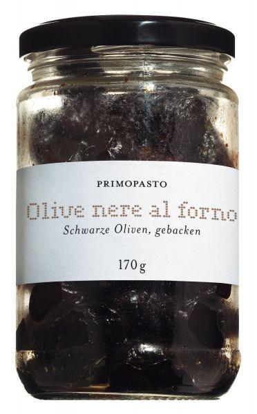 Schwarze Oliven, gebacken