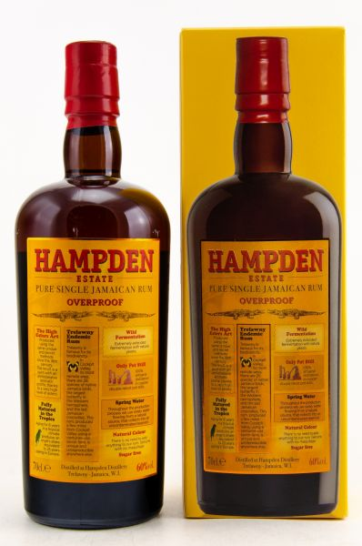 HAMPDEN Overproof - Pure Single Jamaican Rum, 60% - 0,7l