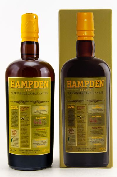 HAMPDEN - Pure Single Jamaican Rum, 46% - 0,7l