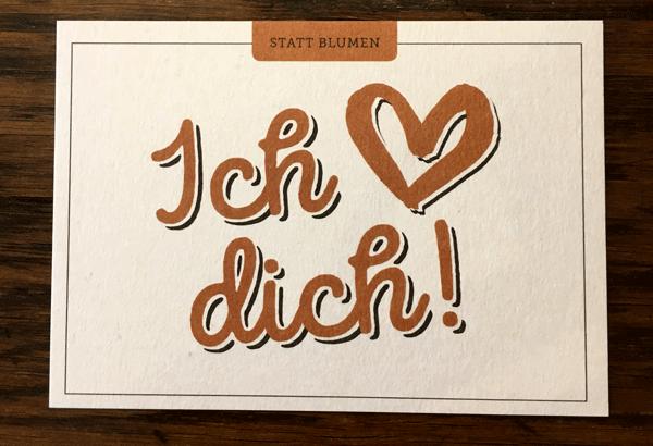 Grusskarte - Ich liebe dich