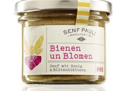 Bienen un Blomen - Senf mit Honig & Blütenblättern- 110ml
