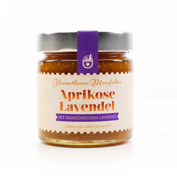 Aprikose Lavendel Fruchtaufstrich / 225g-zum Frühstück