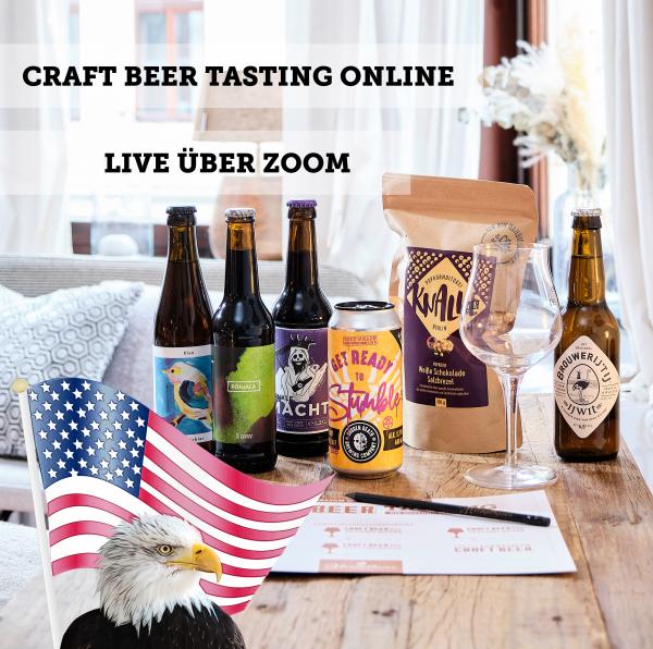 Craft Beer Tasting online - USA & Kanada Special - 18. Juni 2021
