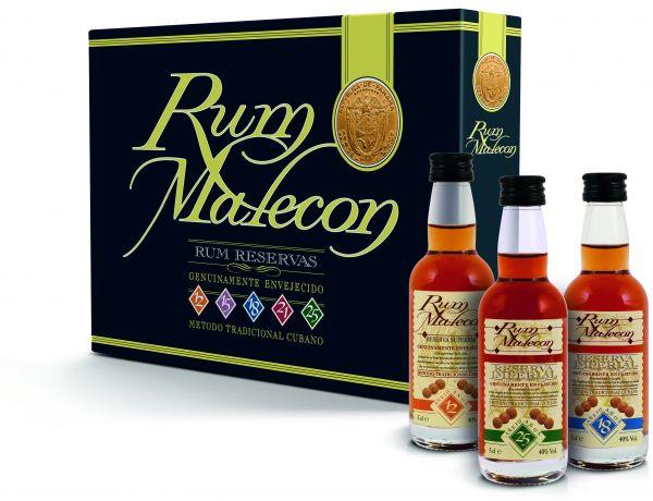 Rum Malecon Miniaturenset 5 x 0,05l / 40%