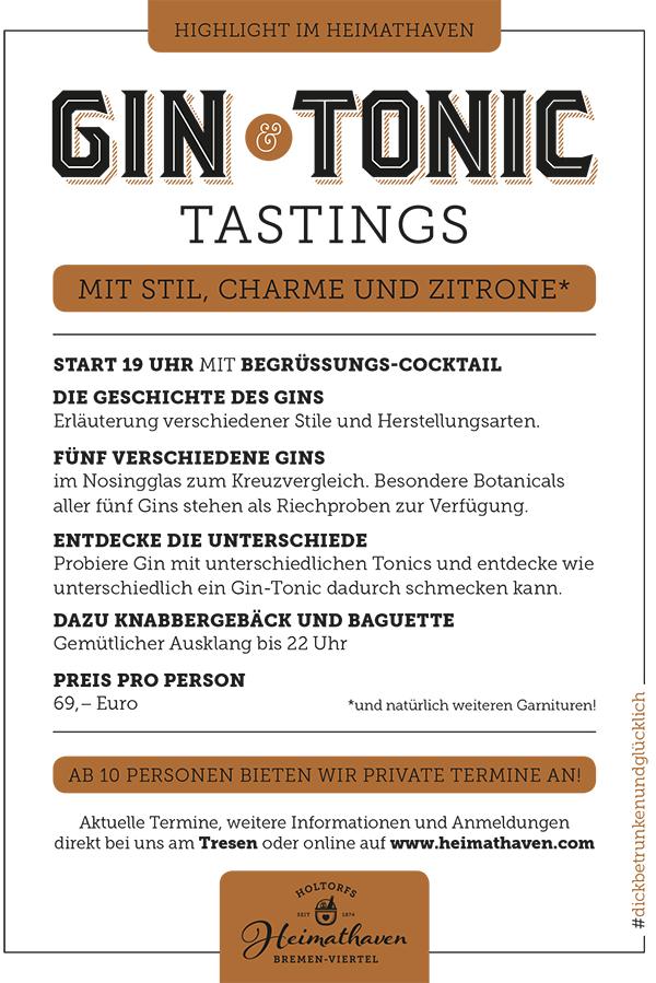 Gin-Tasting-Flyer-Bremen