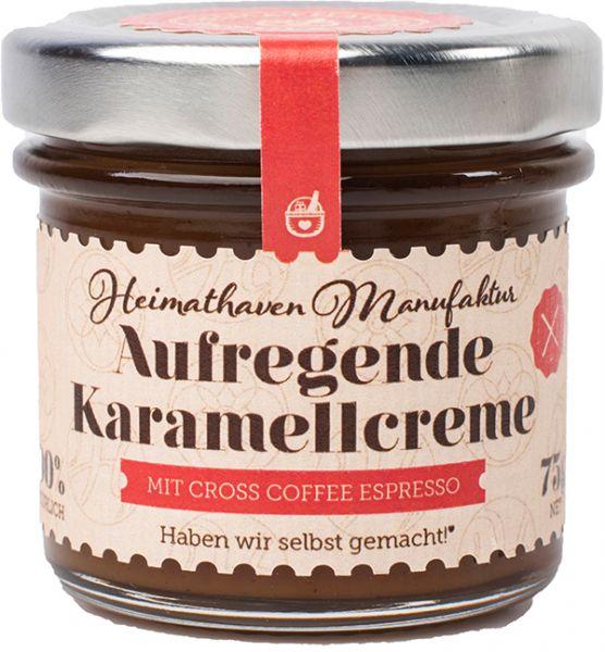 Aufregende Karamellcreme mit Cross Coffee Espresso Mini