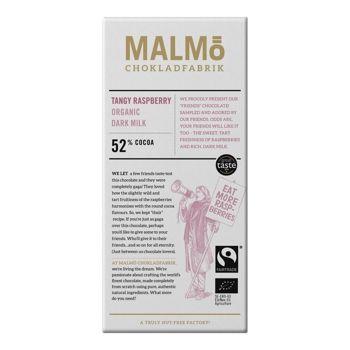 Malmö Bio Dunkle Milchschokolade- Raspberry - 80g