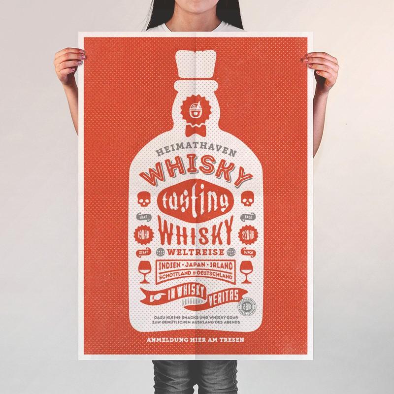 Whisky-Tasting-Plakat