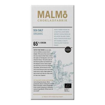 Malmö Bio Zartbitterschokolade - Meersalz - 80g