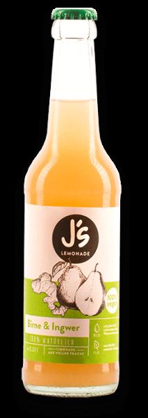 Limonade mit Birne und Ingwer