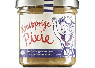 Knusprige Pixie - Senf mit ganzer Saat & Koriandersamen - 160ml