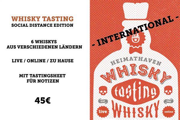 Whisky Tasting Online - International - 5. Februar 2021 - für Einsteiger & Fortgeschrittene