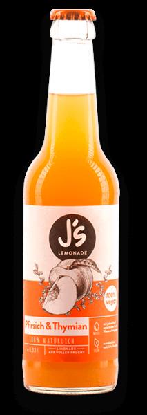 Limonade mit Pfrisich und Thymian