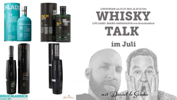 Bruichladdich Whisky Live Stream im Juli 2021