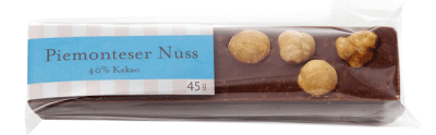 Gmeiner - Schokoladenriegel - Piemonteser Nuss - 45g