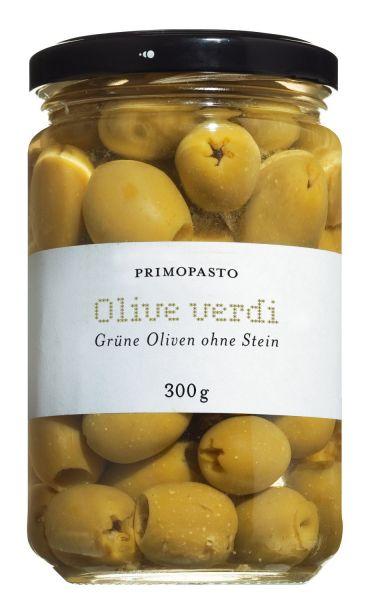 Grüne & Kernlose Oliven in milder Salzlake