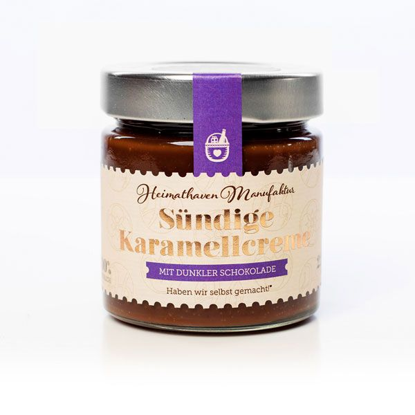 Sündige Karamellcreme - mit dunkler Schokolade / 225g