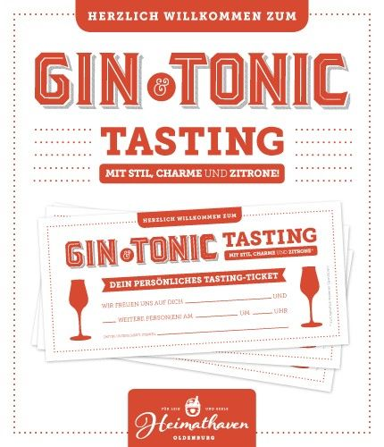 Gin Tasting Oldenburg 26.04.19