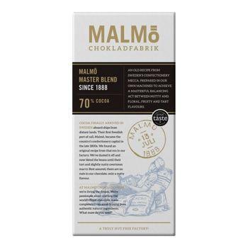 Malmö Bio Zartbitterschokolade - Masterblend - 80g