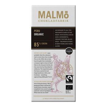 Malmö Bio Zartbitterschokolade - Dark Peru - 80g