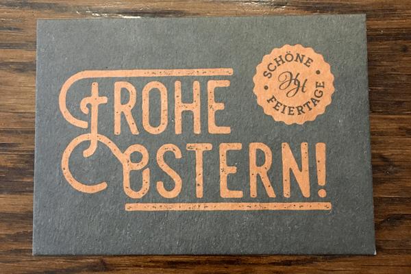 Grusskarte - Frohe Ostern