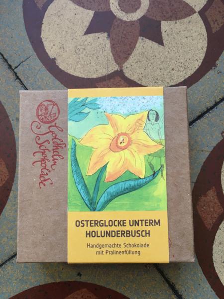 Goldhelm - Canache Schokolade - Osterglocke unterm Holunderbusch - 100g