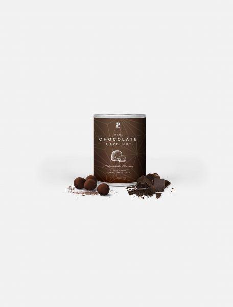 Haselnüsse in dunkler Schokolade