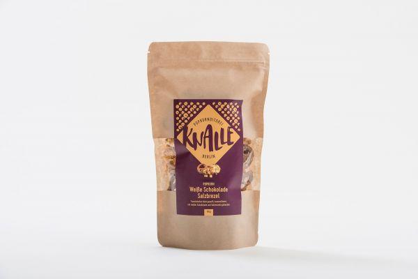Knalle Popkorn mit Brezel und weißer Schokolade