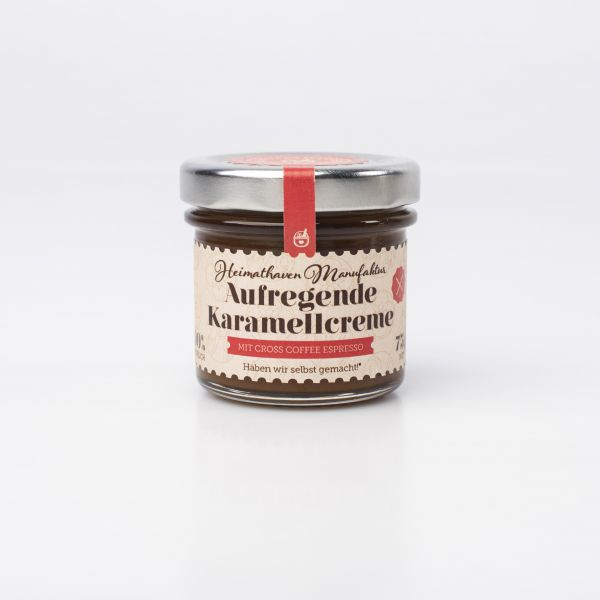 Aufregende Karamellcreme mit Cross Coffee Espresso Mini
